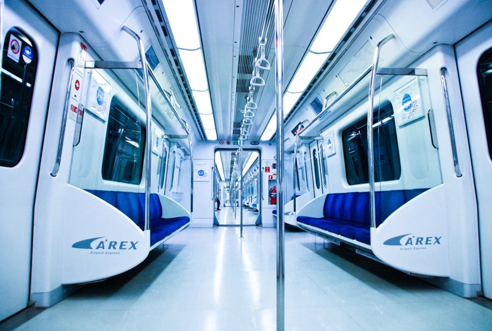 the first date in the Incheon airport express train